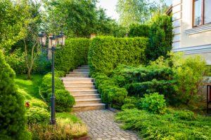 Schön gestalteter Garten