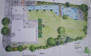Gartenplan Zeichnung